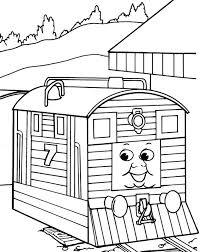 sc ruffey thomas train coloring pages thomas train