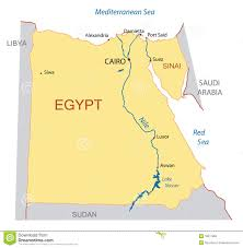 Map Of Egypt And Africa by Egypt Vector Map Stock Photo Image 7452540