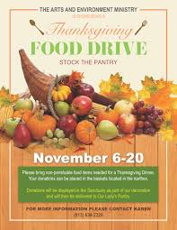 thanksgiving food drive prince of peace catholic church