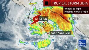Map Of Cabo Mexico by Tropical Storm Lidia Formed Wednesday Evening South Baja California