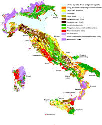 Italian Map Fig 1 Landslides In Coastal Areas Of Italy Geological
