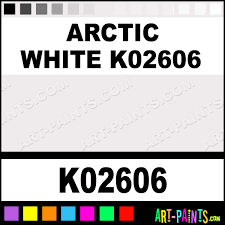 arctic white k02606 h2o enamel paints k02606 arctic white