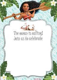 Invitation Card Maker Free Download Free Moana Birthday Invitation Template Drevio Invitations Design