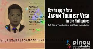how to apply for a japan tourist visa in the philippines with