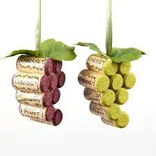 wooden cork grapes ornaments 4 inch 2 cork