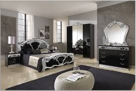 magnificent black and silver royal bedroom design with grooved
