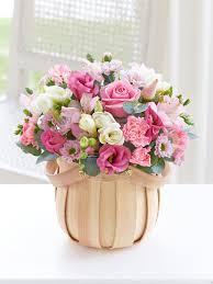 basket of flowers pretty pink basket flowers beautiful flowers