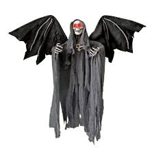 halloween angel wings grim reaper halloween prop flying reaper winged reaper youtube