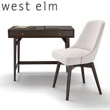 west elm mid century mini desk 3d model west elm mid century mini desk dark mineral 2