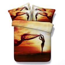 Sexy Bed Set by Aliexpress Com Buy Splendid Sexy Woman Silhouette 3d Printed 4