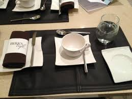 beautiful place settings picture of birks cafe par europea