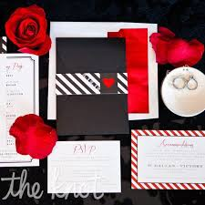 Red And Black Wedding Invitations A Red And Black Wedding At The W Dallas Victory Hotel