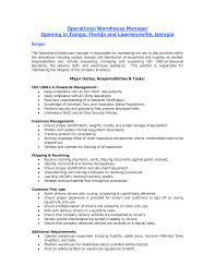 Resume Examples For Warehouse Position by Resume For Warehouse Worker Resume Badak