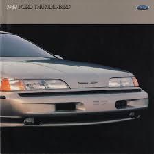 1992 Ford Thunderbird Ford 1989 Thunderbird Sales Brochure