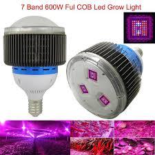 best grow lights for vegetables full spectrum 7 band 600w cob led grow light red blue uv ir led