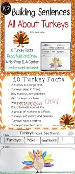 building sentences turkey facts turkey facts kid printables