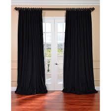 Velvet Curtain Club Exclusive Fabrics Off White Velvet Blackout Extra Wide Curtain