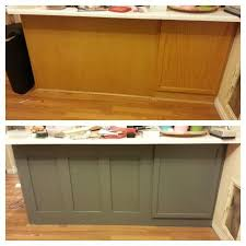 Remodelaholic DIY Refinished And Painted Cabinet Reviews - Diy kitchen cabinet refinishing