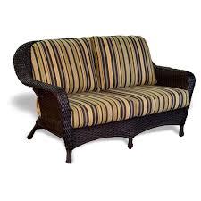 Wicker Loveseat Patio Furniture - tortuga outdoor lexington wicker love seat wickercentral com