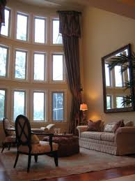 living rooms long singular tall window decorating wall in room