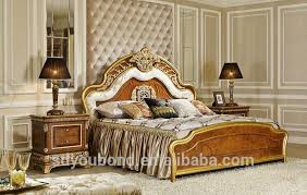 Luxury Bedroom Sets Furniture by 0062 Royal Luxury Bedroom Furniture Golden Bed Elegant Wood Carved