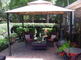 Outdoor Patio Gazebo 12x12 by 12x12 Gazebo Tent Sun Shelter Soft Top Canopy Outdoor Patio Deck