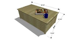 Diy Wooden Coffee Table Diy Furniture Plans How To Build An Outdoor Slatted Coffee