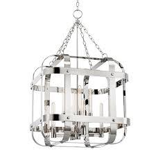 Barn Light Originals by Hudson Valley Colchester 8 Light Polished Nickel Pendant Polished