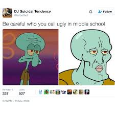 Meme School - be careful who you call ugly in middle school know your meme