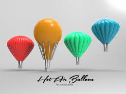 printable air balloons cgtrader