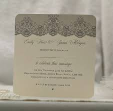 antique lace design wedding invitations by beautiful day