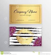 makeup artist business card business cards template with gold