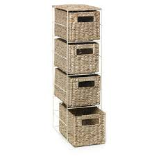 Chest Of Drawers With Wicker Drawers Wilko Rush 4 Drawer Unit Natural At Wilko Com
