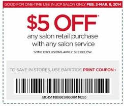 jcpenny salon coupon 5 off any salon purchase with any salon
