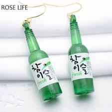 plastic bottle earrings fashion glass bottle earrings fashion nightclub