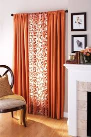 Orange And Brown Curtains Textile Thursday Decorating With Orange Curtains Middle
