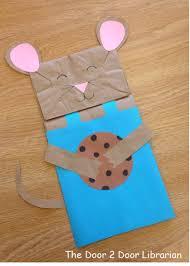 milk u0026 cookies storytime paper bag puppet craft cosas para las