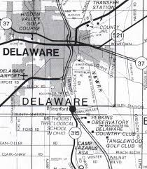 Delaware County Map Directions To Big Ear Ohs Marker