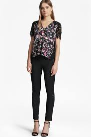 midnight bloom plains lace top hidden french connection canada