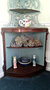 Small Pine Corner Desk Decorating Pine Corner Hutch With Cobblestone Colored For Home