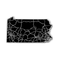 Pennsylvania State Map by Pennsylvania Acrylic Cutout State Map Modern Crowd Touch Of