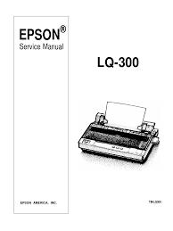 epson lq 300 color dot matrix service manual transmission