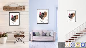 turkey bird gifts home decor wall art decoration livingroom