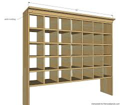 Wall Hanging Mail Organizer Remodelaholic Build A Vintage Mail Sorter Shoe Cubby