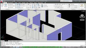 Auto Cad Floor Plan by Autocad 2010 Creating Walls From Floor Plan Youtube