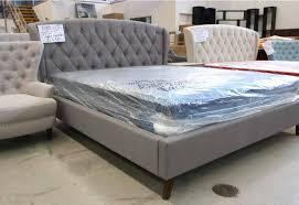 light grey upholstered bed charlotte double upholstered bed light grey warehousefc