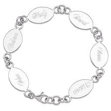 sterling silver engravable jewelry sterling silver engravable oval family name bracelet 5823403 hsn