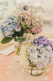 themed wedding decorations 21 simple yet rustic diy hydrangea wedding centerpieces ideas