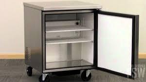 true undercounter freezer video tuc 27f youtube