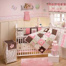 Brown And Pink Crib Bedding Furniture Modern Bedroom Black Pink Crib Bedding Ribbon